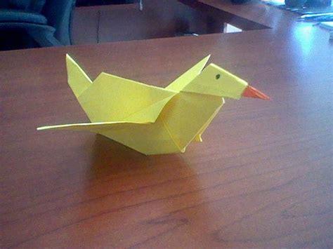 Origami Duck - origami duck craft