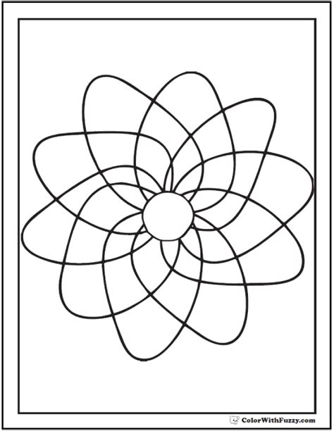 70 Geometric Coloring Pages To Print And Customize Advanced Geometric Coloring Pages