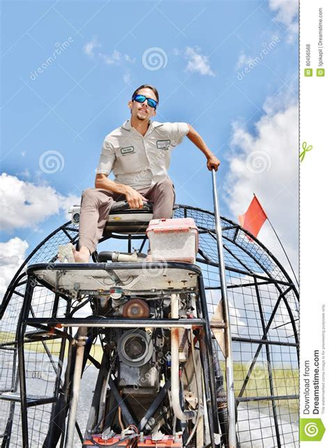 airboat cartoon everglades airboat mascot royalty free stock photography