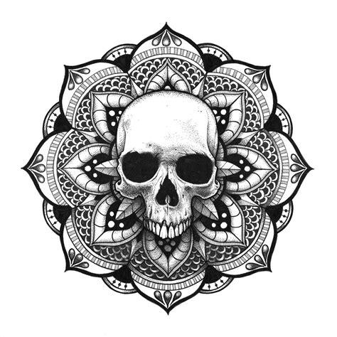 mandala head tattoo mandala cr 226 ne skull mandala artsy mandala