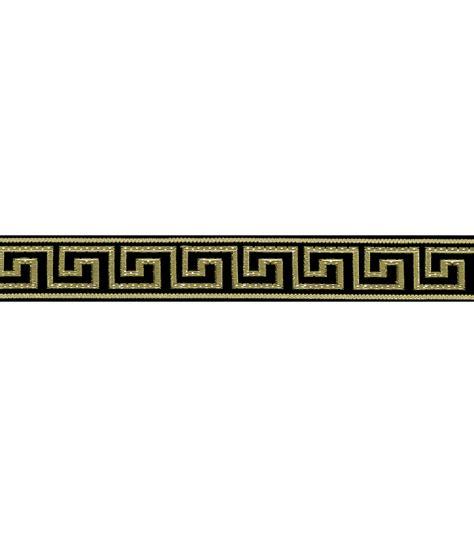 Joann Home Decor Fabric by 1 Black Greek Key Band Apparel Trim Jo Ann