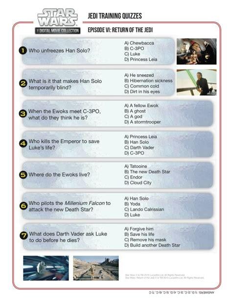 printable star wars trivia quiz jedi training quiz star wars episode vi return of the