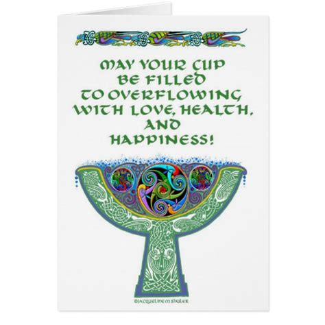 Irish Gift Cards - irish wedding anniversary goblet gift card zazzle
