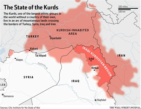 state of the middle kurdistan on the map