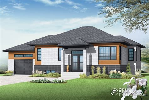 Bungalow House Plans With Basement And Garage by Zen Amp Contemporary W3128 V2 Maison Laprise