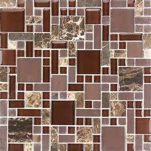 kitchen bathroom dark emperador marble brown glass mosaic tile