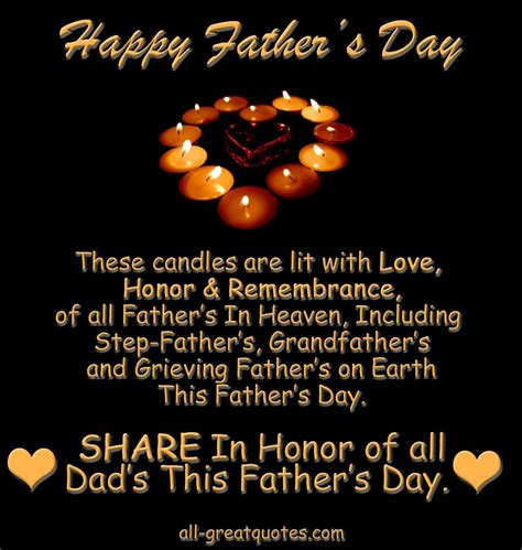 Quotes For S Day In Heaven In Loving Memory Picture Cards For On Fathers Day