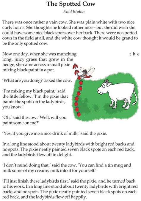 three stories grade 3 reading lesson 3 short stories the spotted cow