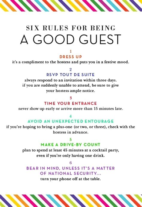 home design basic rules simple rules for being a good guest basic manners