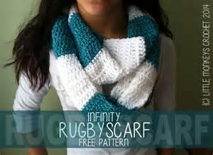 Striped Infinity Scarf Crochet Pattern Free Crochet Pattern Rugby Infinity Scarf Striped