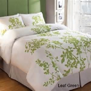 green leaf woods nature duvet cover set 100