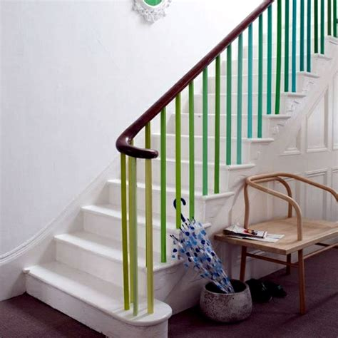 Painted Stairs Design Ideas The Staircase Decorating Ideas With Paint Leftover Wallpaper And Wall Stickers Interior Design