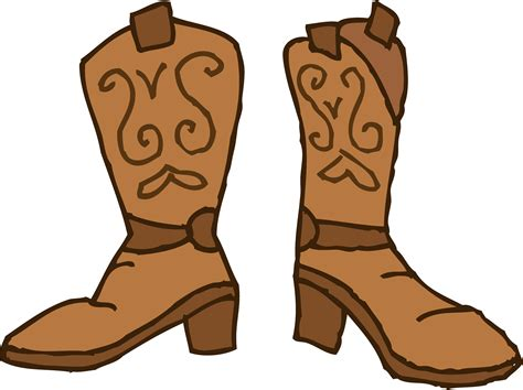 cartoon boat brown brown cowboy boots clipart free clip art
