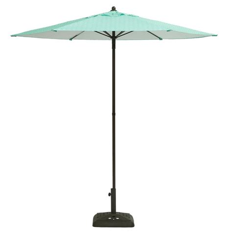 hton bay patio umbrella base hton bay 7 1 2 ft steel push up patio umbrella in geo