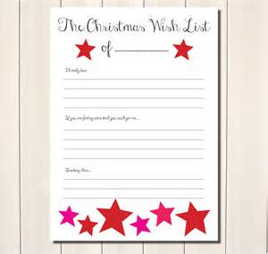 birthday gift list template 6 best images of wish list printable free printable