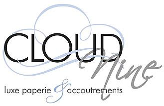 cloud 9 logo color custom invitations stationery and paper at cloud nine