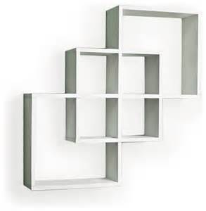 white decorative wall shelves intersecting squares decorative wall shelf white