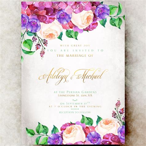 Floral Wedding Invitations by Floral Wedding Invitation Printable Hydrangea Wedding