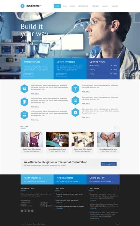 wordpress themes design inspiration medicenter responsive medical wordpress theme health
