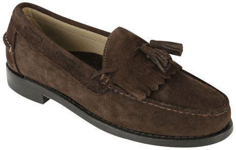 sebago tassel loafers sebago mens cooper suede tassle loafers in brown for