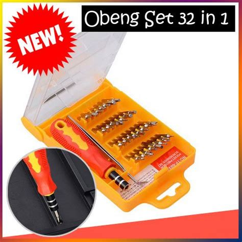Obeng Set 32 In 1 jual obeng set 32 in 1 screwdriver tool set plus pinset di