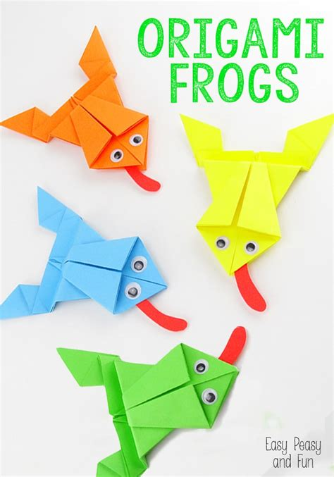 tutorial origami frog origami frogs tutorial origami for kids easy peasy and fun