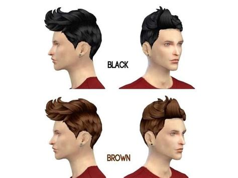 sims 4 male hairstyles hair for male v1 0 ts4 male hairstyles pinterest mod