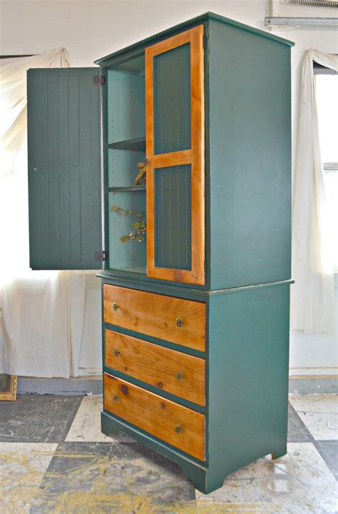 farmhouse armoire heir and space a vintage farmhouse armoire in shades of green