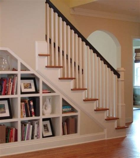 built in bookcase stairs built in shelves