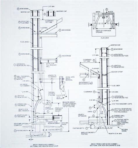 chimney construction diagram chimney construction drawings