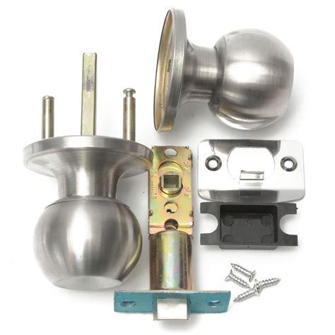 Bedroom Door Knob With Key Lock by Stainless Steel Bathroom Door Knob Set Handle