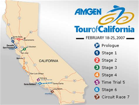 amgen san jose route map tour of california 2007 route details cyclelicious