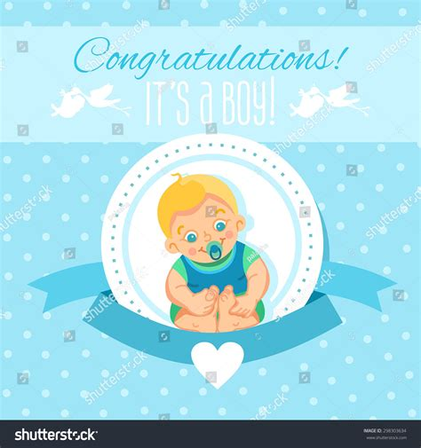 it s a wonderful card template design template baby showerits stock vector