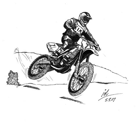 dirt bike colotring pages