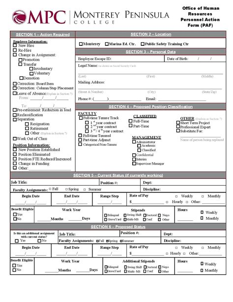 free human resources forms and templates template personnel form template