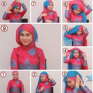 gambar tutorial rias wajah tutorial hijab moden untuk wajah bulat