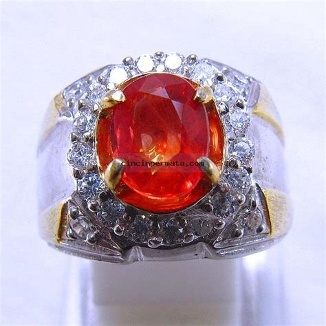 Orange Safir Srilanka batu mulia sparkling orange safir sa039 cincinpermata