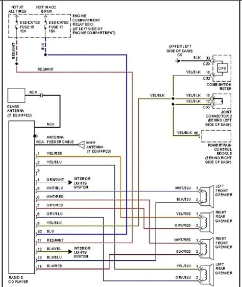 2001 honda civic radio wiring diagram 37 wiring diagram