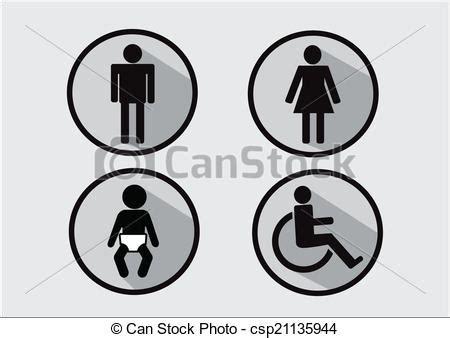 simbolo bagno vettore eps di donna simbolo incapacit 224 bagno bambino