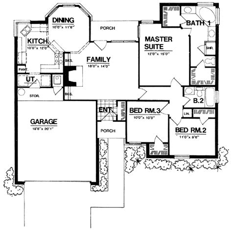 ranch house plans with open concept plan 7426rd open concept design traditional house plans