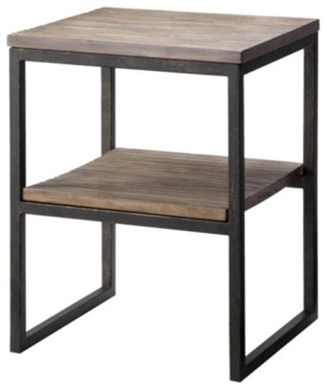 side accent table accent table iron and wood modern side tables and end