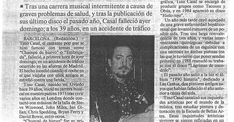 accidente tino casal prensa recortada nuevaola80 el cantante tino casal