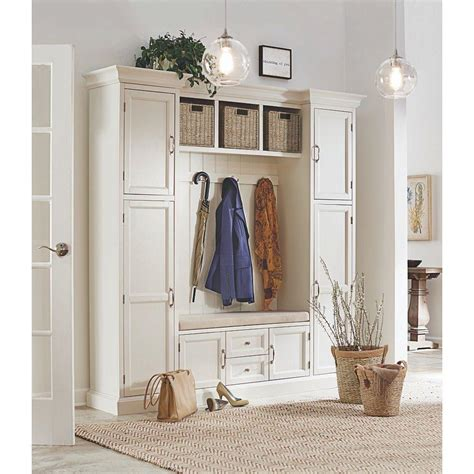 home decorator home depot home decorators collection royce polar white hall tree 7474200410 the home depot