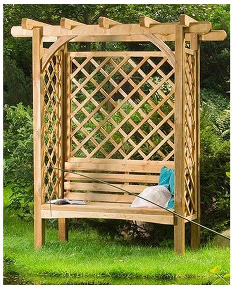 pergola avec banc de jardin pergola bois avec banc pergolas et auvents