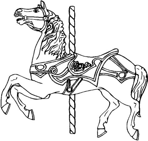 coloring pages of carousel horses strong carousel horse coloring pages strong carousel