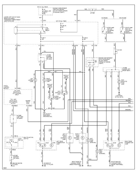 I NEED A DIAGRAM OF THE WIRING HARNESS FROM THE HEAD LIGHT