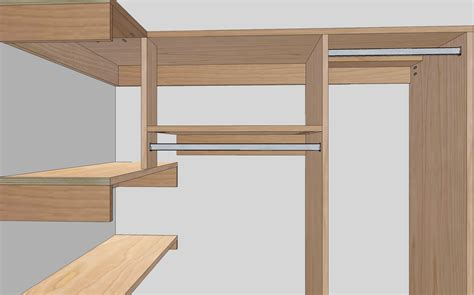Closet Shelves And Rods by Step In Closet Organizer Plans