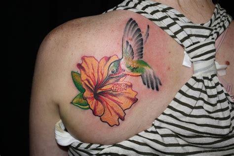 hummingbird and flower tattoo 62 unique hummingbird for back