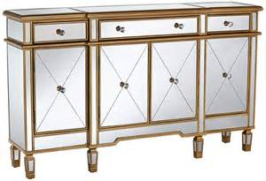 gold and mirror mirrored console cabinet dresser table
