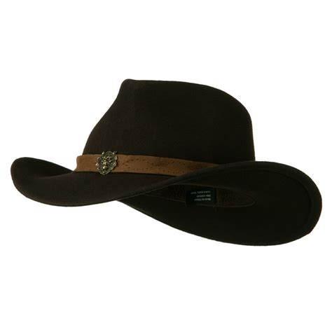 cowboy hat brown wool felt cowboy hat with distressed leather